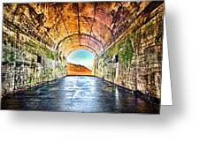 Hawk Hill Tunnel Greeting Card by Robert Rus