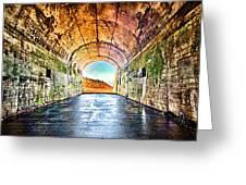 Hawk Hill Tunnel Greeting Card by Robert Rus