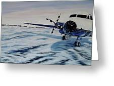 Hawker - Airplane On Ice Greeting Card by Marilyn  McNish