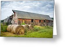 Hay Bales And Old Barns Greeting Card by Gary Heller