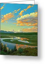Hayden Valley Sunset Greeting Card by Paul Krapf