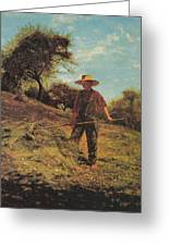 Haymaking Greeting Card by Winslow Homer