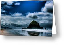 Haystack Rock IIi Greeting Card by David Patterson