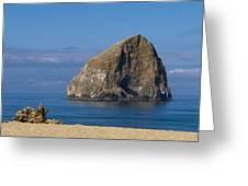 Haystack Rock - Pacific City Oregon Coast Greeting Card by Brian Harig