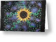 Hazy Paisley  Greeting Card by Yvonne  Kroupa