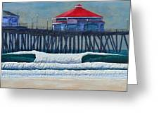 Hb Pier Greeting Card by Nathan Ledyard