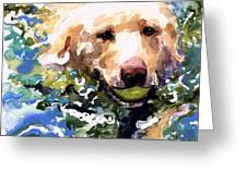 Head Above Water Greeting Card by Molly Poole