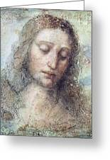 Head Of Christ Greeting Card by Karon Melillo DeVega