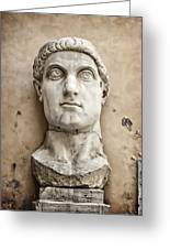 Head Of Constantine Greeting Card by Joan Carroll