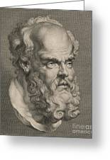 Head Of Socrates Greeting Card by Anonymous