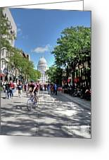 Heading To Camp Randall Greeting Card by David Bearden