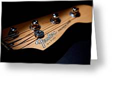 Headstock Greeting Card by Peter Tellone