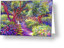 Healing Garden Greeting Card by Jane Small