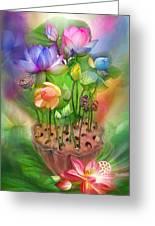 Healing Lotus - Chakras Greeting Card by Carol Cavalaris