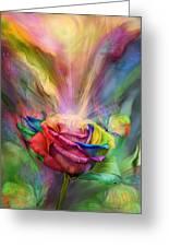 Healing Rose Greeting Card by Carol Cavalaris