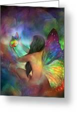 Healing Transformation Greeting Card by Carol Cavalaris