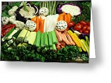 Healthy Veggie Snack Platter - 5d20688 Greeting Card by Wingsdomain Art and Photography