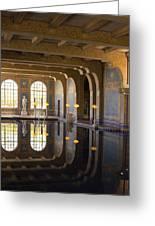 Hearst Castle Roman Pool Reflection Greeting Card by Heidi Smith