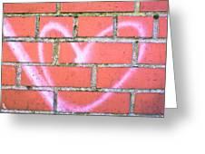 Heart Graffiti Greeting Card by Tom Gowanlock