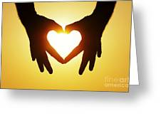 Heart Hands Greeting Card by Tim Gainey