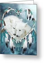 Heart Of A Wolf Greeting Card by Carol Cavalaris