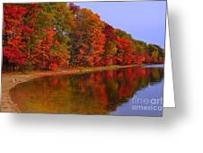 Heart of Autumn Greeting Card by Terri Gostola