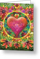 Heart Of Flowers Greeting Card by Alixandra Mullins