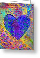 Heart Of Hearts Series - Compassion Greeting Card by Moon Stumpp