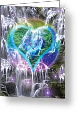 Heart Of Waterfalls Greeting Card by Alixandra Mullins