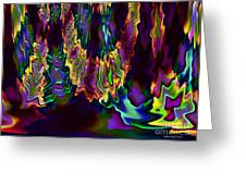 Heart Song Modern Abstract Art Greeting Card by Annie Zeno