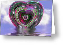 Heart Up Greeting Card by Dee Flouton