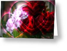 Hearts A Fire Greeting Card by Kay Novy