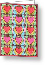 Hearts A'la Stained Glass Greeting Card by Mag Pringle Gire