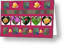 Hearts And Flowers 2 Greeting Card by Marian Bell