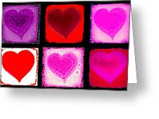 Hearts Greeting Card by Cindy Edwards