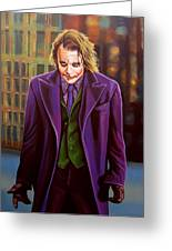 Heath Ledger As The Joker Greeting Card by Paul  Meijering