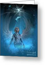 Heavenly Messenger Greeting Card by Shadowlea Is