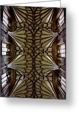 Heavenward -- Winchester Cathedral Ceiling Greeting Card by Stephen Stookey