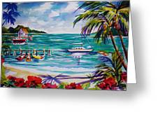 Heeia Bay Pier On Oahu Greeting Card by Therese Fowler-Bailey