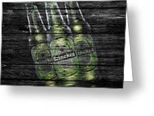 Heineken Bottles Greeting Card by Joe Hamilton