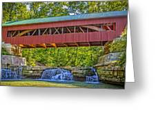 Helmick Mill Or Island Run Covered Bridge  Greeting Card by Jack R Perry
