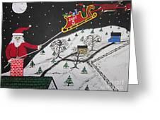 Help Santa's Stuck Greeting Card by Jeffrey Koss