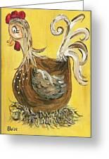 Hen Nesting Greeting Card by Eloise Schneider