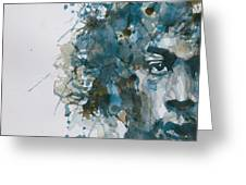 Hendrix Watercolor Abstract Greeting Card by Paul Lovering