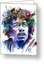 Hendrixhead Greeting Card by Ken Meyer jr