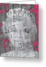 Her Majesty Queen Elisabeth Greeting Card by PainterArtist FIN