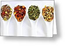 Herbal Teas Greeting Card by Elena Elisseeva