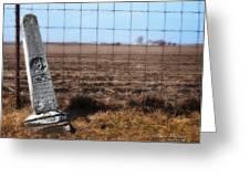Here Lies George Neve - Walcott Iowa Greeting Card by Mary Machare