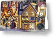 Here We Come A Caroling Greeting Card by Caitlyn  Grasso