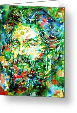 Herman Melville Watercolor Portrait Greeting Card by Fabrizio Cassetta